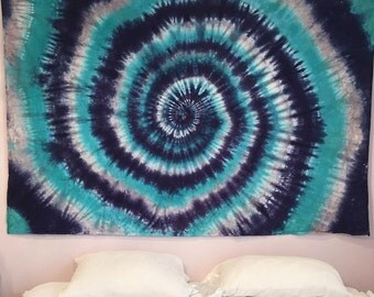 "Tie Dye Tapestry - Hippie - Room Decor - Wall Decor - Handmade - 58"" x 90"""