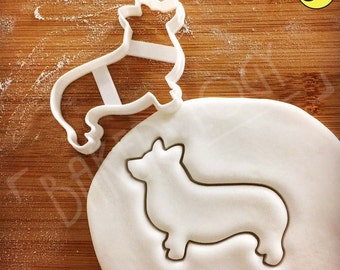 Pembroke Welsh Corgi Dog cookie cutter | biscuit cutter | fondant cutter | clay cheese cutter | コーギー 코기 one of a kind ooak | Bakerlogy