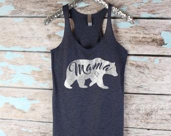 momma bear , mama bear tank , mothers day tank, workout tank top, maternity tank top, preggers tank top, mom shirt, mom to be tank