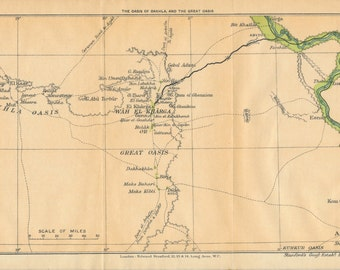 1907 Dakhla Oasis Egypt Antique Map
