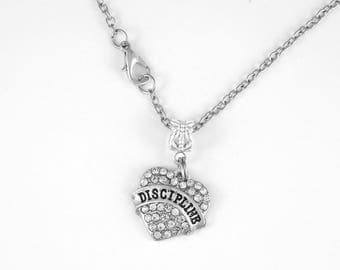 Discipline Jewelry Discipline Gift Discipline Necklace Strict Military 50 Shades Key Chain Diamond Cut Chain Necklace