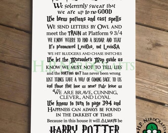 We Do Harry Potter Wood Sign