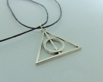 Harry Potter Deathly Hallows Tibetan Silver Pendant (Unofficial)