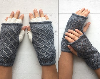 EXPRESS Shipping, Double Layered Gloves, Fingerless Gloves, Two Layer Gloves, Special Gift, Gift For Her, White Gloves, Gray Gloves, Mitten