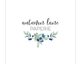 Premade Logo Design | Photography Logo | Modern Logo | Watermark | Branding Package | Watercolor Logo | Flower Logo | Floral Logo | Bouquet