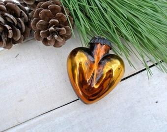 Vintage Kugel Style, Glass Ornament, Mercury Glass Ornament, Copper Christmas Ornament, Red Ornament, Christmas Ornament, Holidays