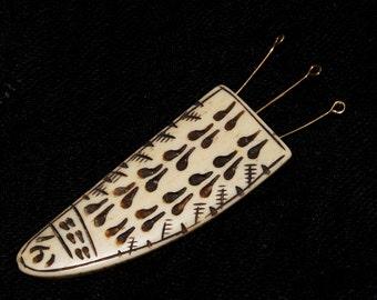1 Pc Ethnic Tribal Rustic Buffalo Bone Hand Carved Tooth Pendant, Bone Tusk Pendant, Bone Claw Beads 75x13mm 3 Top Drill Holes NBOP111