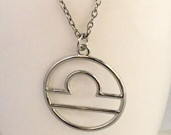 Libra necklace, libra pendant necklace, libra zodiac necklace, necklace libra, zodiac sign necklace, september necklace, october necklace