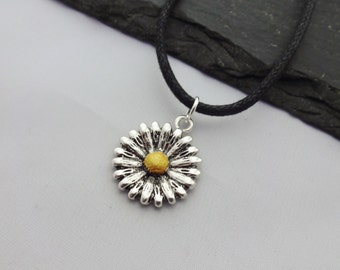 Daisy Choker, Floral Necklace, Flower Choker, Flower Necklace,Cord Necklace,Daisy Necklace,Floral Jewellery,Floral Gift,Gift For Her,Jewelry