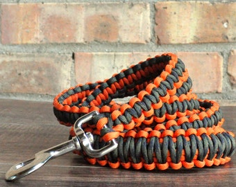 Burnt Orange and Camouflage Paracord 6ft Dog Leash