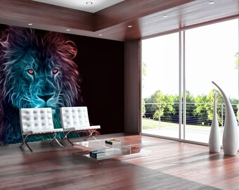 Photo Wallpaper Wall Murals Non Woven 3D Modern Art Optical Illusion  Abstract Lion Wall Decals Bedroom