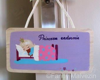 """Door panel """"Sleeping princess"""" - Purple"""