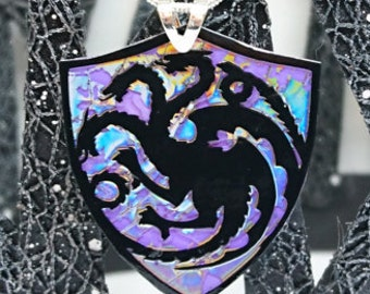 House Targaryen Recycled DVD Necklace