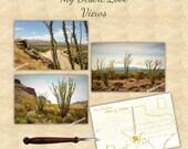 Ocotillo Photo Postcard - Choose One or Set of 3 - Handmade in Texas - Desert Mountain Landscape, Custom, Choose 4x6 or 5x7