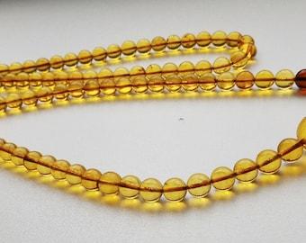 108 baltic amber mala (size Ø9), buddhist meditation, guru bead, 108 bead mala