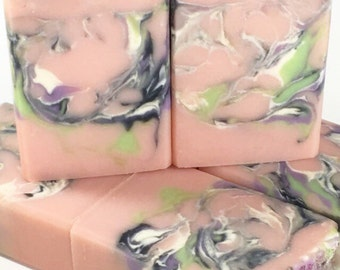 MOONFLOWER SOAP Pink Soap Handmade Soap Homemade Soap For Her Floral Soap Artisan Soap Bath And Body Cold Process Soap Handcrafted Soap Bar