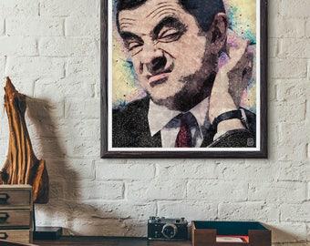 8x10 Mr.Bean Art Print, Mr.Bean Poster, PRINTABLE Home decor, Modern Wall Art, Best Selling Items, Pop Culture Poster, Rowan Atkinson Poster