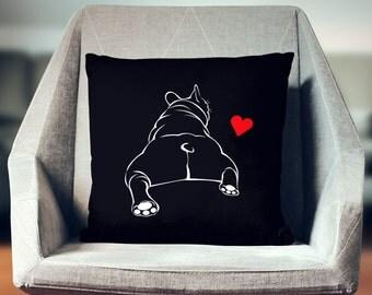 Bulldog Pillow   Bulldog Décor   Bulldog Gift   Bulldog Throw Pillow   Bulldog Cushion   Bulldog Home Décor   Bulldog Pillow Cover  