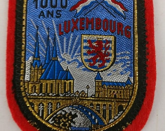1000 ANS Luxembourg History Europe Patch Collectible Travel Souvenir Coat Of Arms