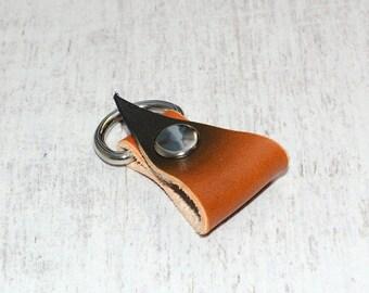 Tan Leather Earphone Organizer // Headphone Holder - Cable Organizer - Headphone Case - Cable Holder - Cord Organizer - Cord Holder