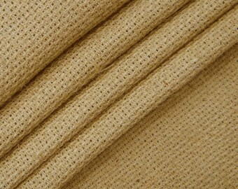 "Beige Burlap, Beige Jute Fabric, Natural Fabric, Sewing Craft, Home Decor Fabric, 52"" Inch Wide Jute Fabric By The Yard ZJC12A"