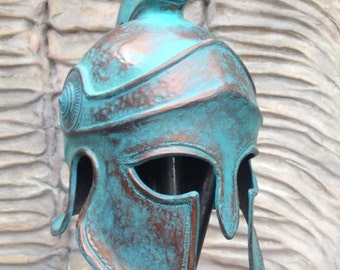 Greek Spartan Helmet Larp Helmet Cosplay Helmet Props for Movies Replica Props Greek Helmet Ancient Аrmor Ancient Mask 300 Rise of an Empire