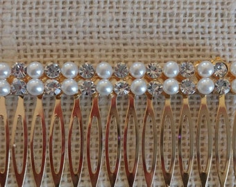 Pearl and Jewel Gold Comb