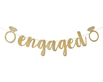 Engagement Party Decorations | Engaged Banner | Engagement Party Ideas | Engagement Party Decor | Engagement Party Sign | Engagement Banner
