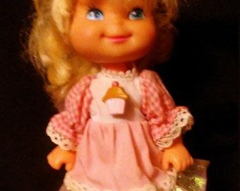 Vintage 1980's Mattel Cherry Merry Muffin Doll!! Original Dress!