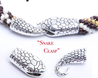 Snake Clasp Glue in, ideal for Kumihimo or leather!