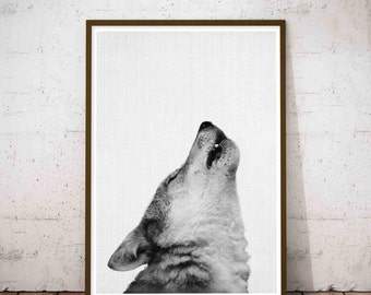 Wolf Print, Minimalist Art Large, Safari Nursery Set, Nursery Safari Print, Wilderness Nursery, Print Set Woodland, Woodland Animals Set