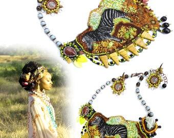 Summer Jewelry Safari Africa Safari Christian Dior 2018 style Necklace  Ethnic necklaces Summer womanAfrica fashion African Ethnic jewelry