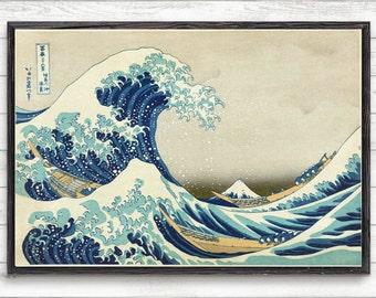 Great Wave Of Kanagawa, Katsushika Hokusai,Vintage Print,Japanese Wall Art Poster,Home Decor,Japanese Print,Vintage Japanese Art Print #P327