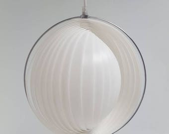 Danish moon pendant lamp much like the Panton moon light design, vintage mcm