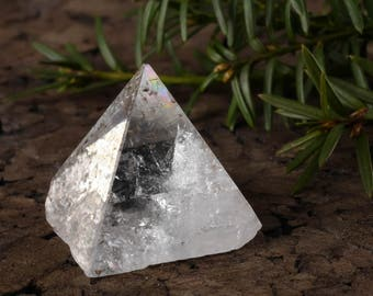 Medium APOPHYLLITE Pyramid - Clear Crystal Pyramid, Apophyllite Crystal Point, Stone Pyramid, Healing Crystal, Apophyllite Cluster E0350