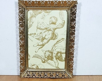 GOLD FILIGREE FRAME 5X7 Ornate Metal Picture Frame Hanging Photo Frame Vintage Ornate Wall Frame