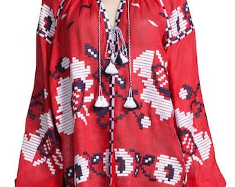 SUPER Price!!! Vyshyvanka embroidered blouse. Boho blouse Free shipping