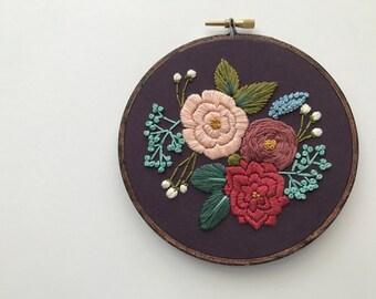 DIY Beginner Embroidery Kit, Embroidery Hoop Art, Embroidery Pattern, Embroidery Kit Beginner, Modern Hand Embroidery Kit, Hoffelt Hooper