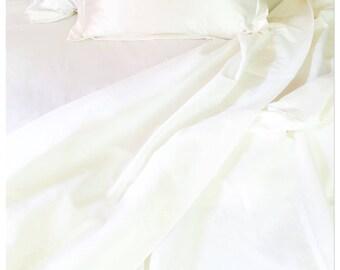 Bedlinen Organic Hemp cotton bedsheet set, handmade, allergy friendly, cot, single, double, queen, king, heirloom, bed sheets, neem leaf