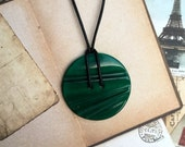 Jewellery necklace pendant statement necklace green pendant art deco pendant best gift for her birthday gift girl friend gift