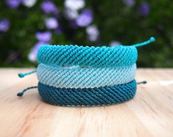 Custom Flat Braided Waterproof Friendship Bracelet   Waterproof and Adjustable Pura Vida Inspired Bracelet