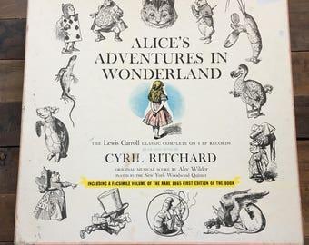Vintage Alice's Adventures In Wonderland Records.Cyril Ritchard.1957