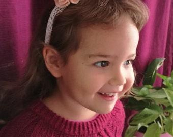 Knit Headband | Knit Girls Headband, Knit Hair Accessory, Girl Hair Accessory, Knit Girl Accessory, First Birthday Gift, Birthday Girl, 2017