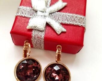 Gold Filled Swarovski Crystal Earrings