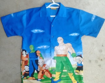 Dragonball Z short sleeve button up. All over print Dragonball Z shirt
