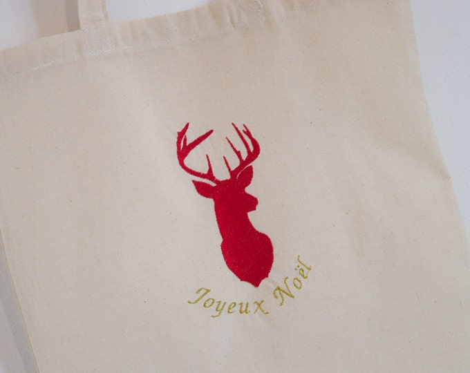 "Tote Bag ""Merry Christmas"" Red"