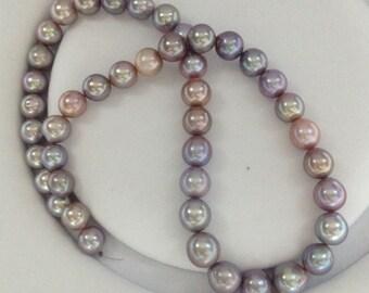 Natural Purple/ Lilac Edison pearl necklace