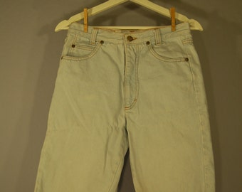 True vintage of 90s shorts 36 / S jeans high waist hipster five pocket cut fringe