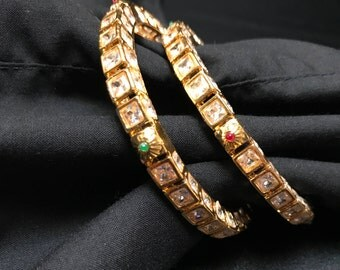 Indian Jewelry - Kundan Bangles - Indian Bangles - Indian Bridal Bangles - Bollywood Jewelry - South Indian Jewelry - Kundan Jewelry - Desi