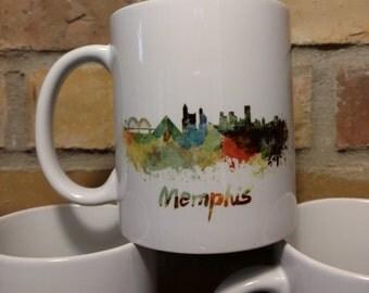 Memphis Mug - Watercolor Memphis Mug - 11oz Ceramic Mug - Memphis Pride Mug - Memphis Tennessee - Memphis Coffee Mug - 901 Mug - Tennessee